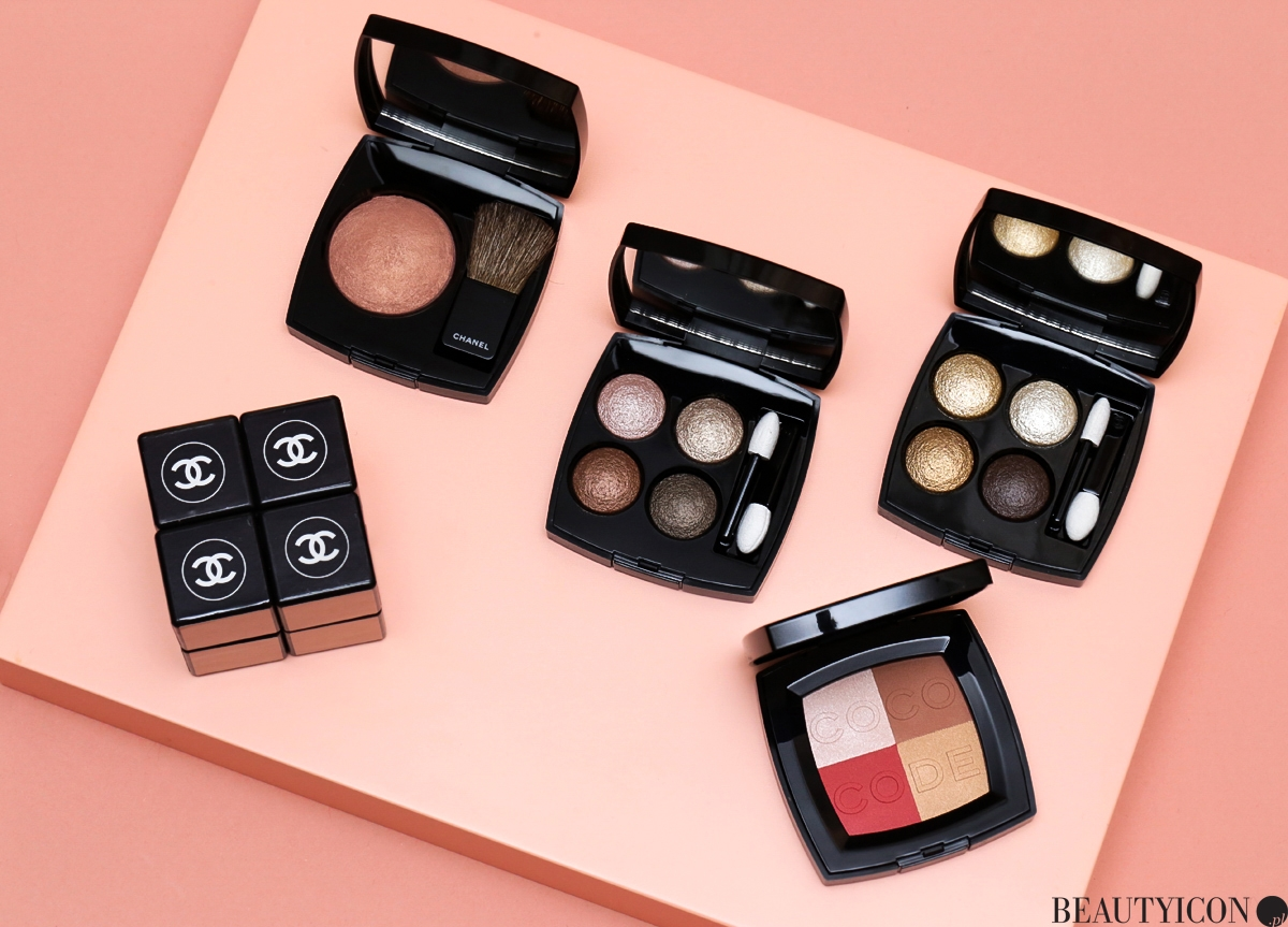 Chanel Coco Codes, Chanel Spring Makeup 2017, makijaż Chanel, Chanel Wiosna 2017, Les 4 Ombres Codes Subtils, Blush Harmony Coco Code