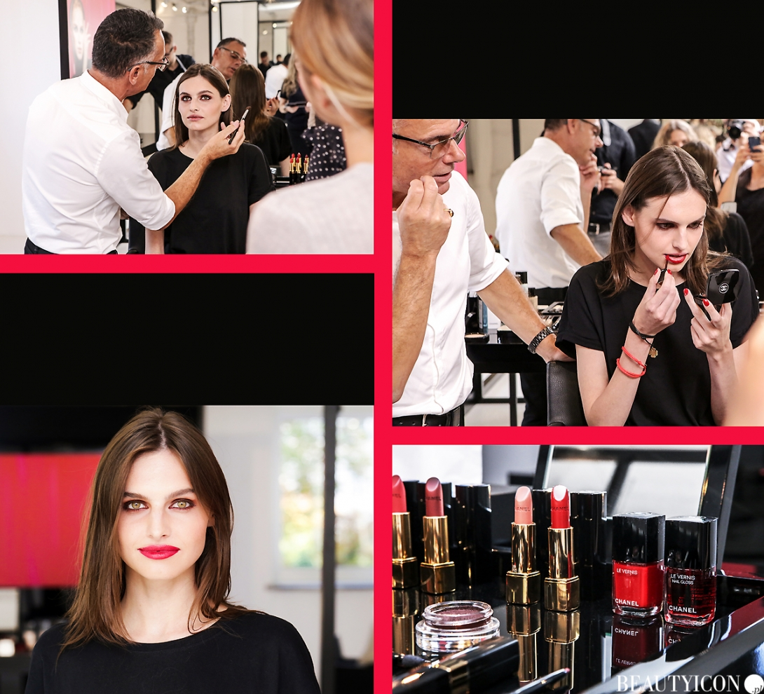 Chanel Le Rouge Collection N1, #lerougecollection1, Chanel Lucia Pica, Makijaż Jesień 2016, Modelka Angelika Barańska, Mysia 3 Warszawa