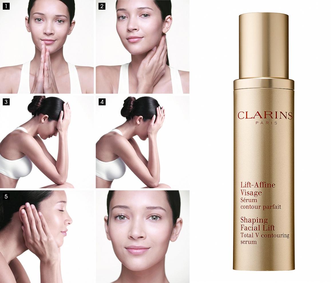 Clarins Shaping Facial Lift Serum, serum liftingujące, serum poprawiające owal twarzy