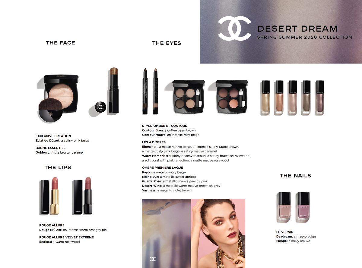 Makijaż Chanel Desert Dream Wiosna Lato 2020
