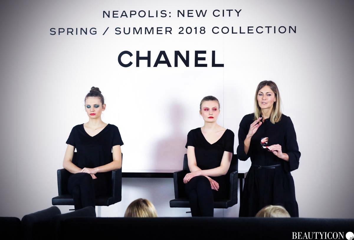 Chanel Neapolis fotografie Neapolu Lucia Pica, Chanel Lucia Pica Neapolis, Chanel Neapolis 2018, kosmetyki Chanel, makijaż Chanel Wiosna Lato 2018