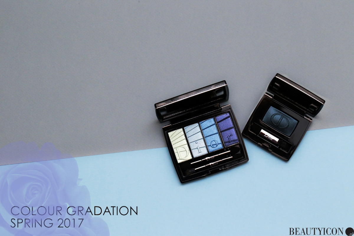 Dior Colour Gradation 2017, Dior Wiosna Makijaż, Dior Blue Gradation, Dior Diorshow Mono Gradation 2017