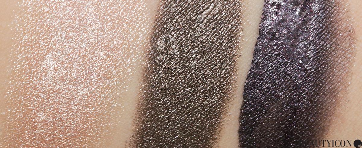 Dior Metalizer Swatch, Platine Fusion, Bronze Tension, Plum Reflexion, Dior Creme Eyeshadow, metaliczne cienie, kremowe cienie