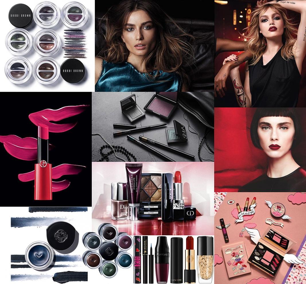 Trendy makijaż jesień 2017, Bobbi Brown Downtown LA, YSL Tatuous, Givenchy L'Autre 2017, Lancome Olympia's Wonderland 2017, Giorgio Armani 2017, Shiseido Monumentum 2017, Dior Metallics 2017
