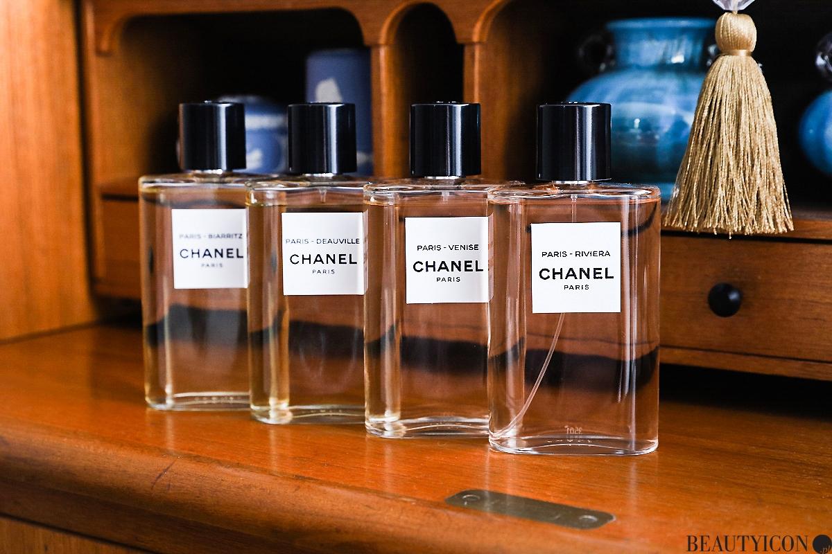Les Eaux de Chanel, Chanel Paris, Chanel Deauville, Chanel Biarritz, perfumy Chanel, butik Chanel