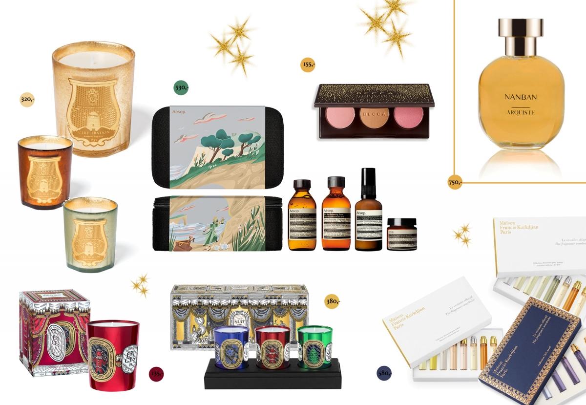 Prezenty na święta, prezenty na Boże Narodzenie, prezenty na gwiazdkę, Galilu, Diptyque świece, perfumy Francis Kurkdjian, perfumy Nanban