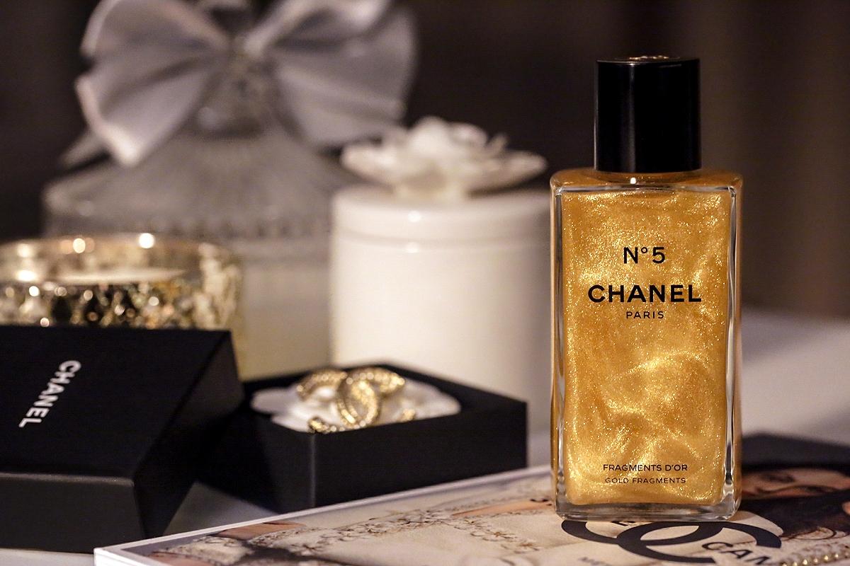 Chanel N5 Fragments, żel z drobinkami Chanel