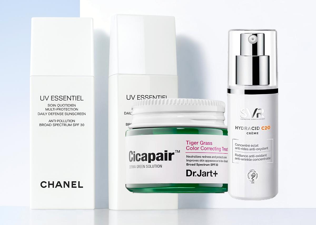 Svr Hydracid C20, krem witamina c, dr jart cicapair, chanel filtr spf