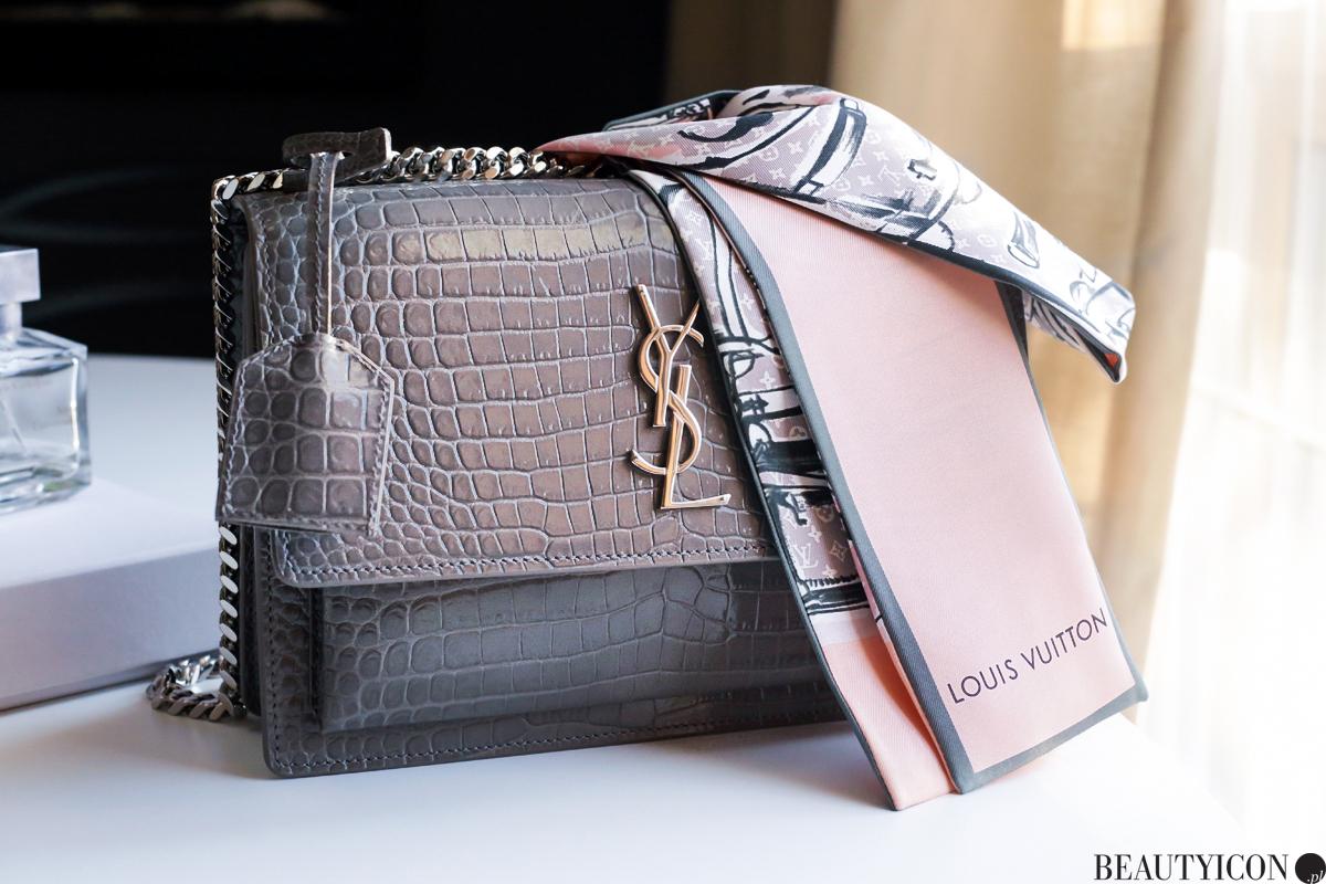 Torebka YSL, torebka Yves Saint Laurent, apaszka Louis Vuitton