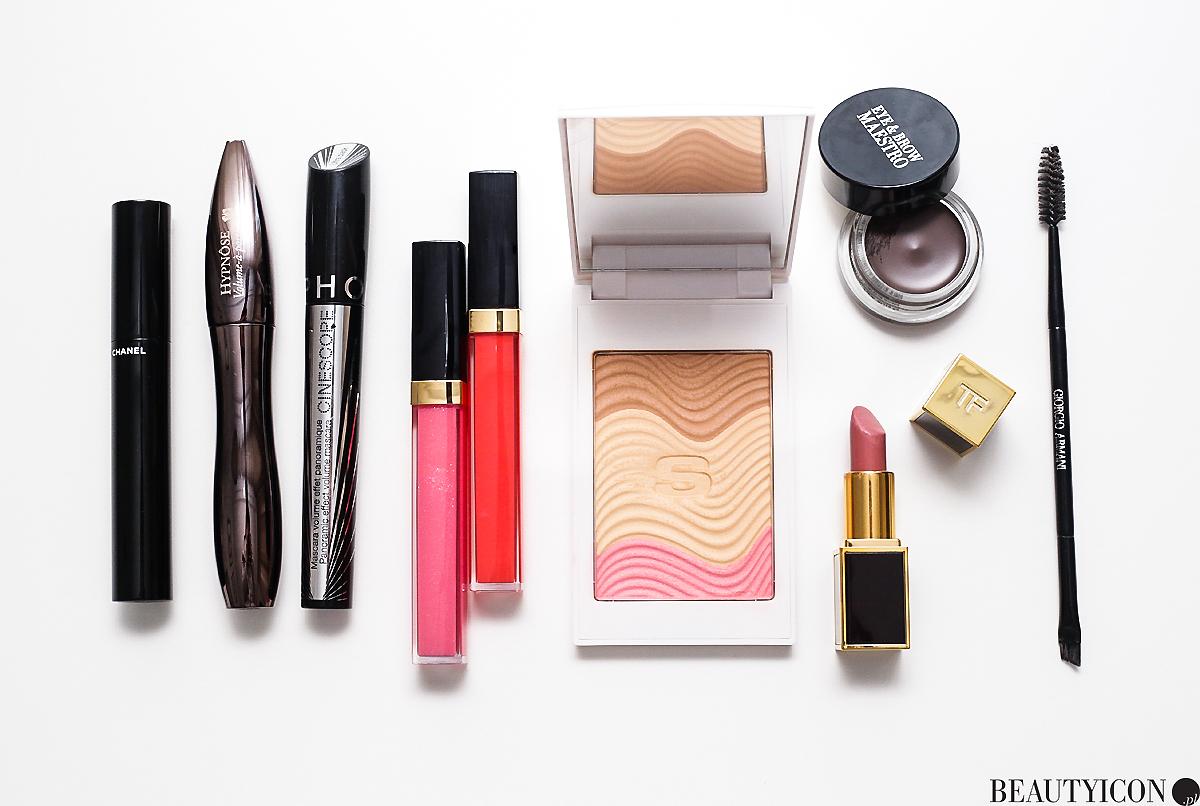 Chanel Rouge Coco Gloss, Giorgio Armani Brow Wedge, pomadka Tom Ford