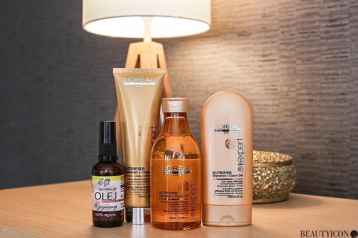Pielęgnacja włosów, odżywienie włosów, L'Oreal Nutrifier, olejek rycynowy