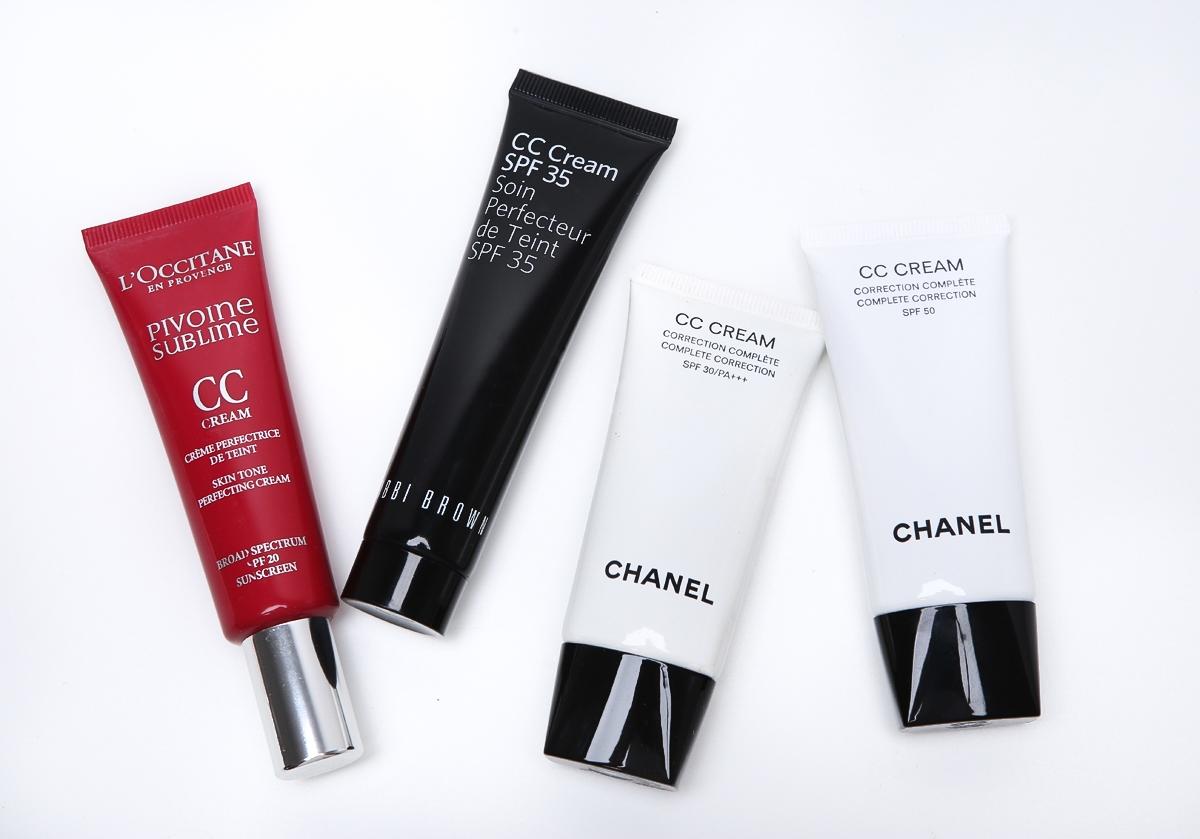L\'occitane CC krem, Bobbi Brown CC krem, Chanel CC krem SPF50