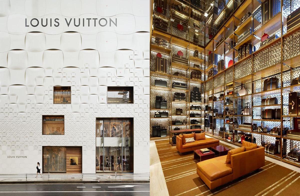 Louis Vuitton - Sklepy: Tokio i Londyn