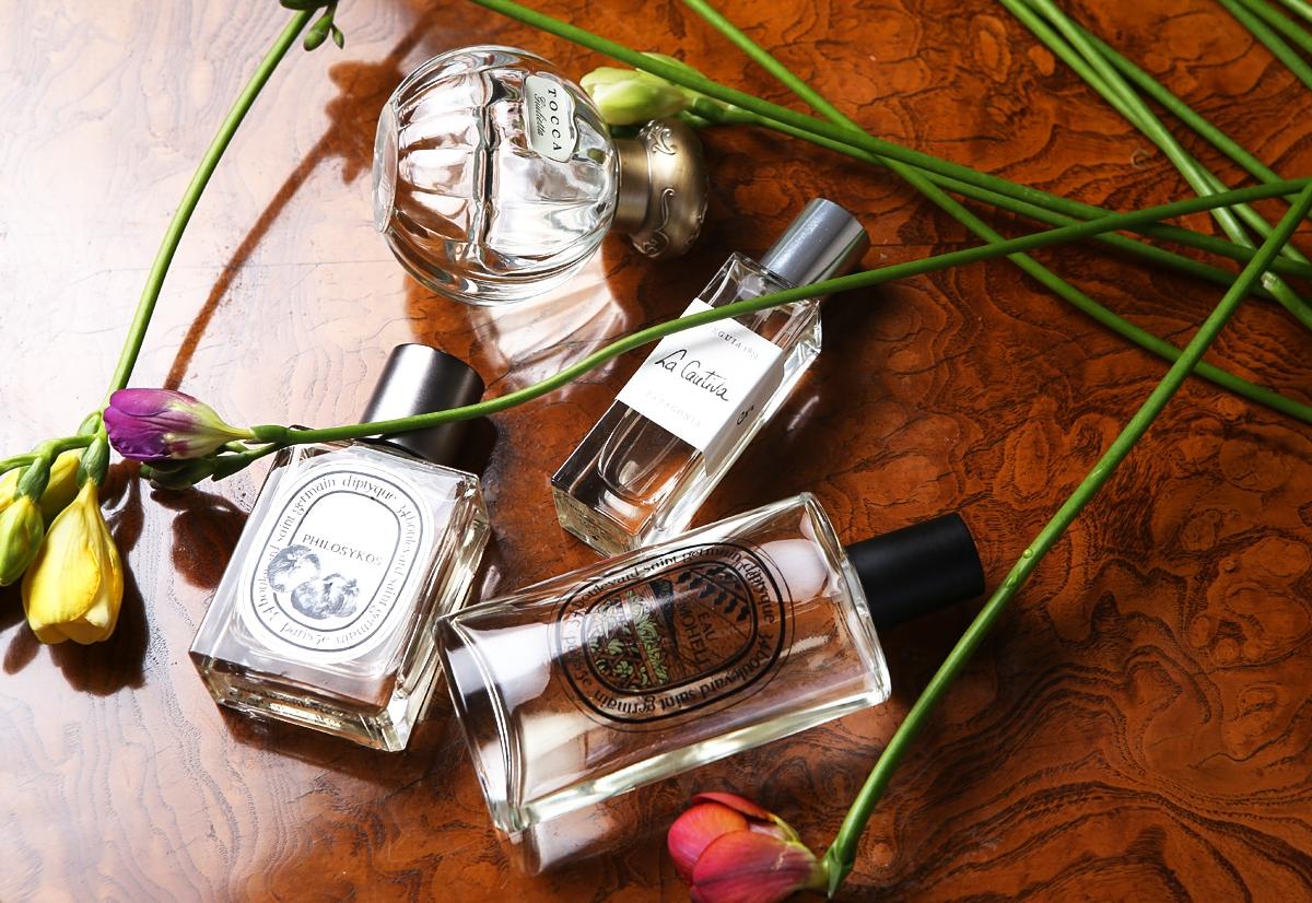 Perfumy na wiosnę 2015, Philosykos, Diptyque, Eau Moheli, La Cautivia, Fueguia