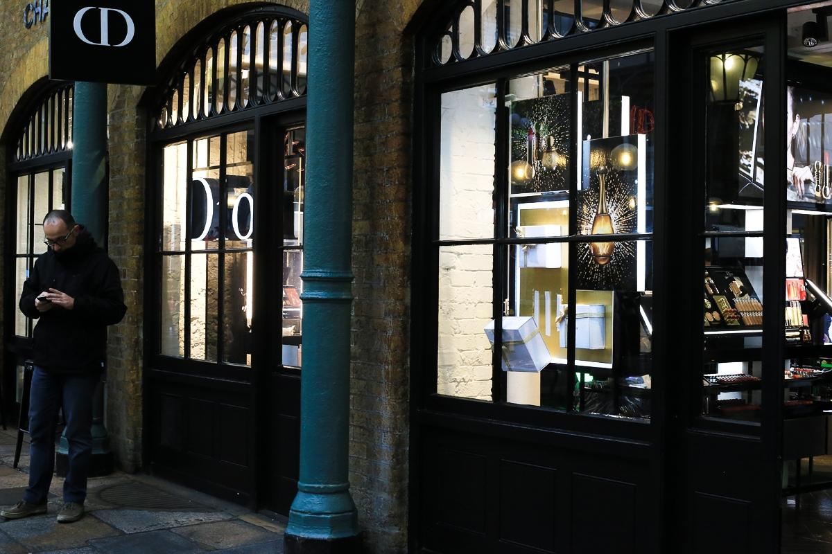 Butik Dior, Dior Covent Garden, Dior Londyn, zakupy Londyn