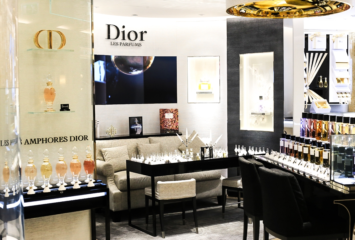 Perfumeria, Butik Dior, Harrods Dior