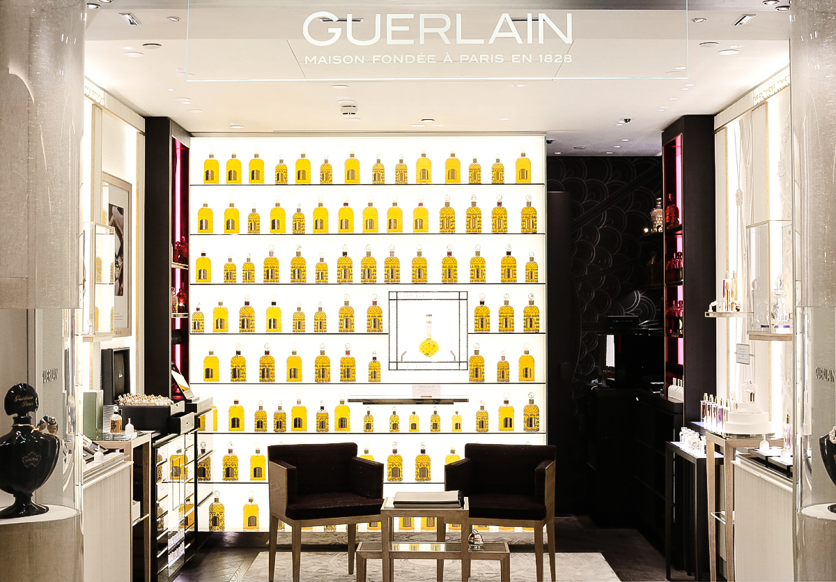 Butik Guerlain, perfumeria, Harrods