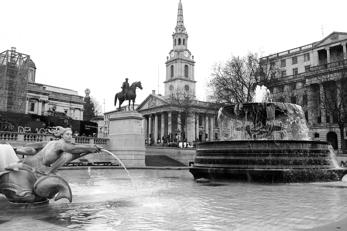Trafalgar Square, The National Gallery, Londyn