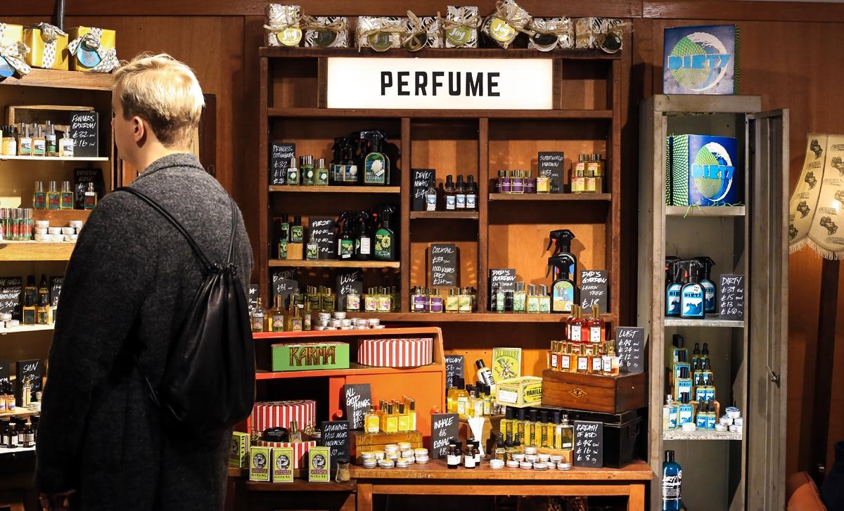 Sklep Lush w Londynie, kosmetyki Lush