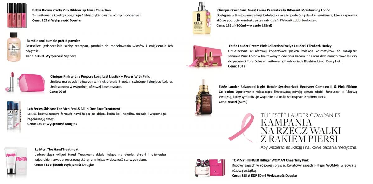 Estee Lauder Kampania na rzecz walki z rakiem piersi